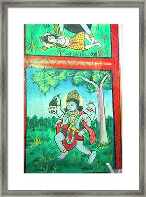 Krishna, Shree Laxmi Narihan Ji Hindu Framed Print by Inger Hogstrom