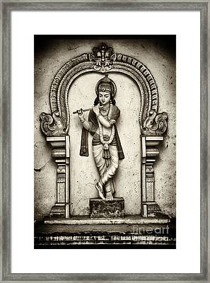 Krishna Temple Statue Framed Print by Tim Gainey