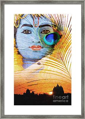 Krishna Temple Sunrise Framed Print by Tim Gainey