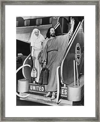 Krishna Venta In New York Framed Print by Underwood Archives