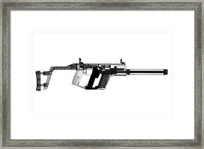 Kriss Vector X-ray Photograph Framed Print by Ray Gunz