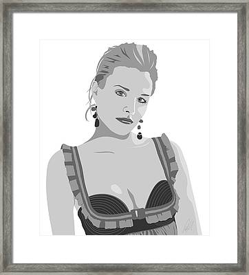 Kristen Bell Framed Print by Paul Dunkel