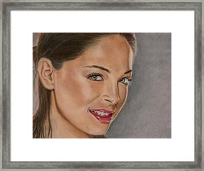 Kristen Kruek Lana Lang Framed Print