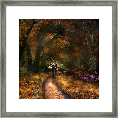 Kristi The Path Framed Print by Vjkelly Artwork