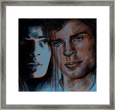 Kristin And Tom Framed Print by Francoise Dugourd-Caput