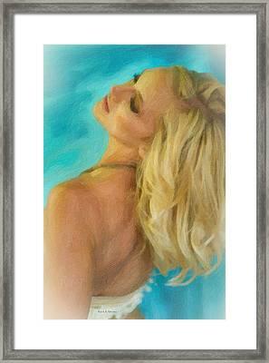 Kristin Framed Print by Angela A Stanton