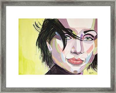 Kristin Scott Thomas Framed Print