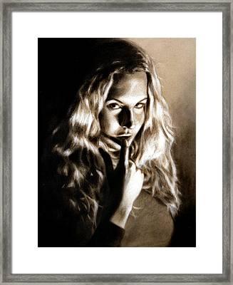 Kristy By Edward Pollick Framed Print by Edward Pollick