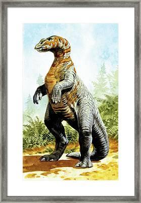 Kritosaurus Dinosaur Framed Print