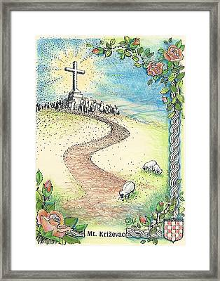 Krizevac - Cross Mountain Framed Print by Christina Verdgeline