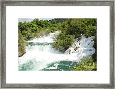 Krka Waterfalls Croatia Framed Print