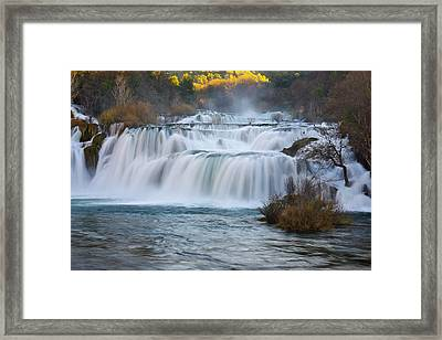 Krka Waterfalls Framed Print