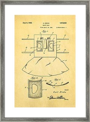 Kroha Beauty Mask Patent Art 2 1933 Framed Print by Ian Monk