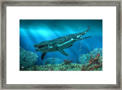 Kronosaurus Framed Print by Daniel Eskridge