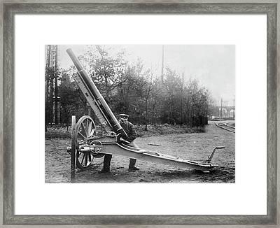 Krupp Balloon Gun Framed Print by Library Of Congress
