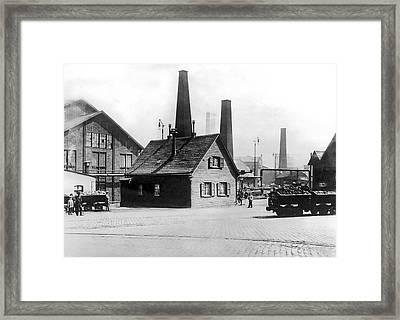 Krupp Works Founded Here Framed Print