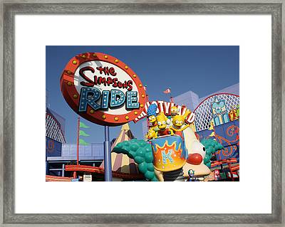 Krusty Framed Print