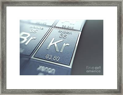 Krypton Chemical Element Framed Print by Science Picture Co