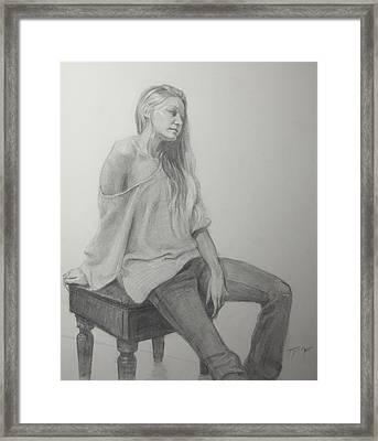 Krystal Framed Print by Julian Tejera