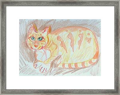 Framed Print featuring the painting Krystallos by Anita Dale Livaditis