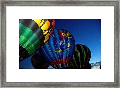 Ku Ballon Framed Print