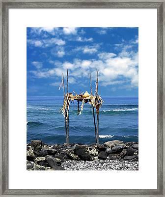 Ku Emanu Heiau Kona Framed Print by Kurt Van Wagner
