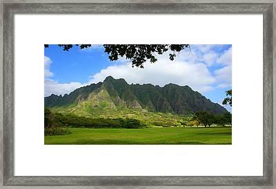 Kualoa Park Hawaii Framed Print by Kevin Smith