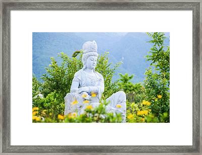 Kuan Yin Bodhisattva 2 Framed Print by Lanjee Chee