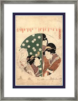 Kudanme, Act Nine Of The Chushingura. Between 1799 And 1801 Framed Print