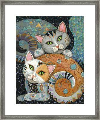 Kuddlekats Framed Print