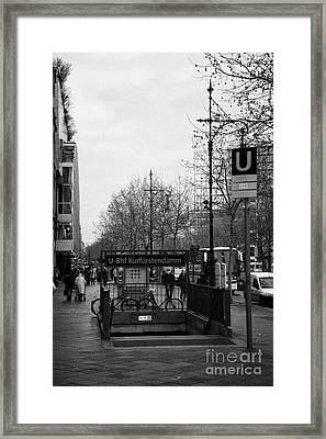 Kufurstendamm U-bahn Station Entrance Berlin Germany Framed Print by Joe Fox