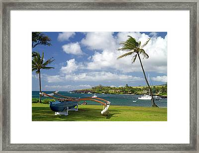 Kukuiula Small Boat Harbor Framed Print by David R. Frazier
