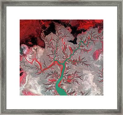 Kumbunbur Creek Framed Print by Kari/european Space Agency