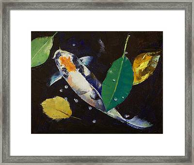 Kumonryu Koi Art Framed Print by Michael Creese
