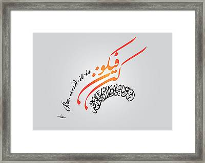 kun Framed Print by Ali ArtDesign