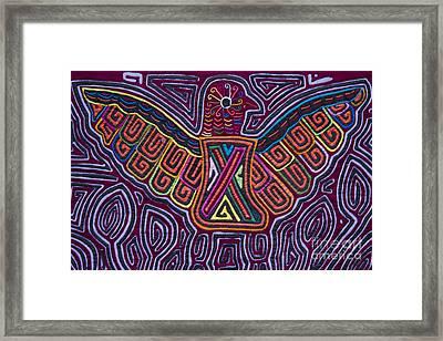 Kuna Design - Mola Framed Print by Heiko Koehrer-Wagner