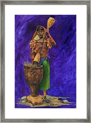 Kuna Indian   Framed Print by Dawn Pfeufer
