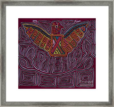Kuna Mola Art Framed Print by Heiko Koehrer-Wagner