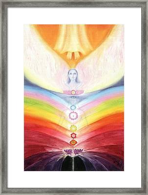 Kundalini Awakening By The Descent Of The Truth Consciousness Framed Print by Shiva Vangara