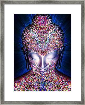 Framed Print featuring the painting Kundalini Awakening  by Jalai Lama