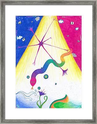 Kundalini's Creation Framed Print by Nieve Andrea