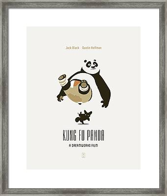 Kung Fu Panda Framed Print by Smile In The  Mind