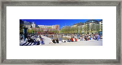 Kungstradgarden Park, Stockholm, Sweden Framed Print by Panoramic Images