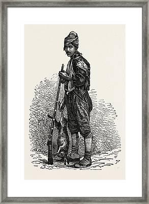 Kurdish Hunter. Kurdistan Refers To Parts Of Eastern Turkey Framed Print by Litz Collection