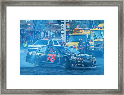 Kurt Busch Framed Print by James Marvin Phelps