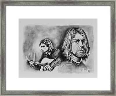 Kurt Cobain Framed Print by Art Imago