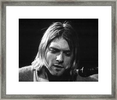 Kurt Cobain Close Up Framed Print by Retro Images Archive