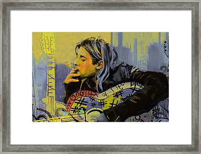 Kurt Cobain Framed Print by Corporate Art Task Force