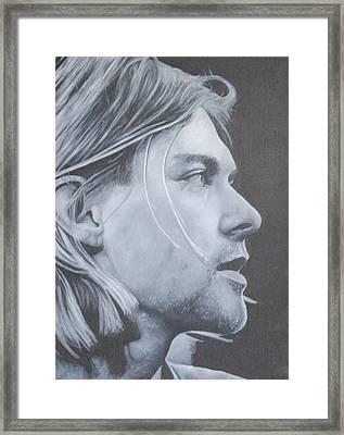 Kurt Cobain Framed Print by David Dunne