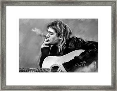 Kurt Cobain Guitar  Framed Print by Viola El